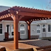 Backyard Utah Deck Timber Pergola