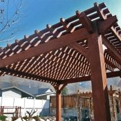 Backyard Utah Timber Pergola