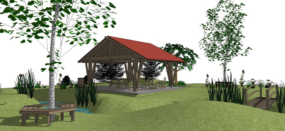 Contemporary style pavilion kit