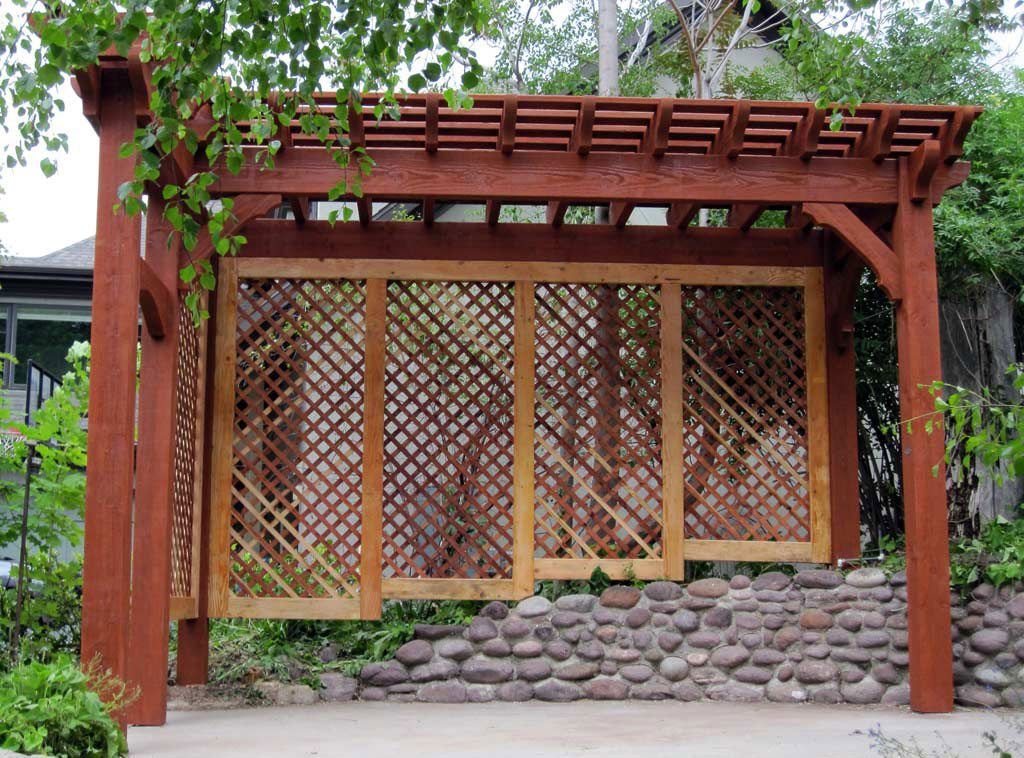 Arbors and trellises timber kits western timber frame - Pergola climbing plants under natures roof ...