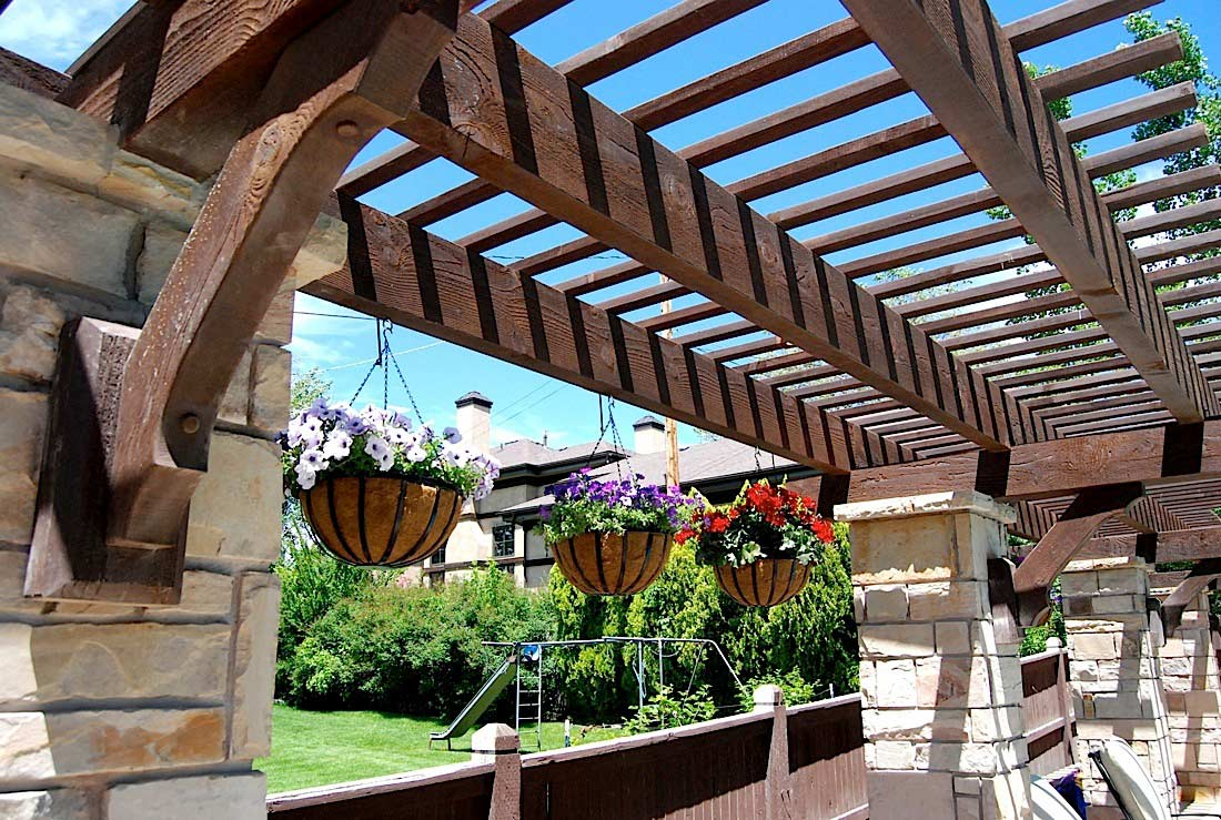 vertical gardening landscape design western timber frame