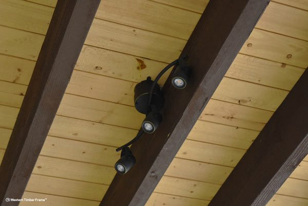 outdoor lights roof pavilion