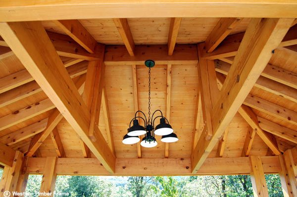 outdoor light pavilion roof