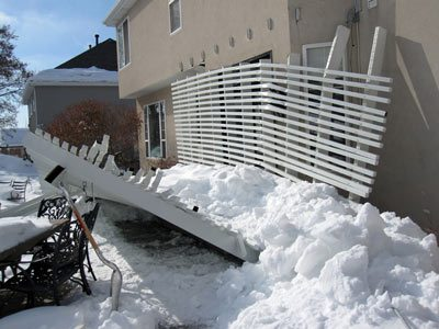 Timber Frame Pergola Against The Wind Under Snow And