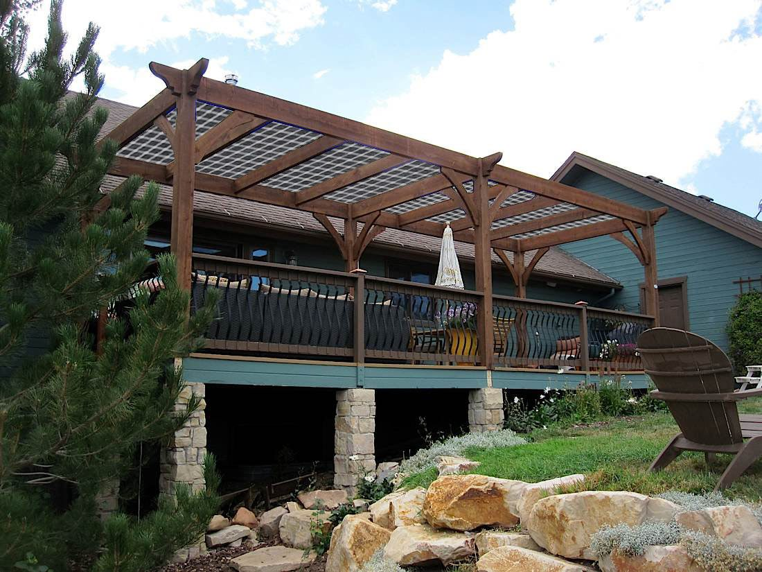 Improved Outdoor Living; Sustainable Landscape u0026 Solar Pergolas : Western Timber Frame