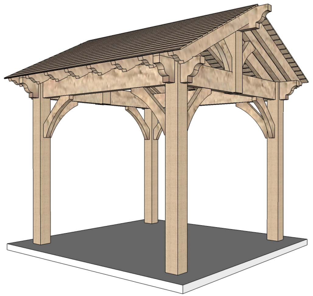 What to expect start to finish diy timber frame pergola for Diy timber frame plans