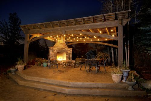 Add Element Of Fire With Outdoor Fireplace Amp Diy Pergola