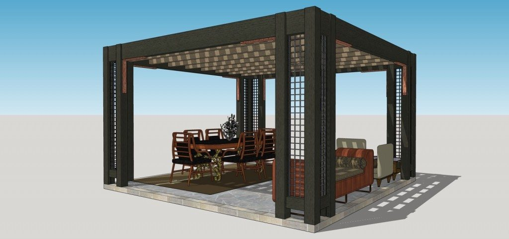 Vote for your favorite contemporary pergola lattice style for Metal frame pergola designs