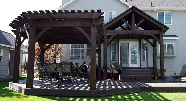 dovetail pergola attached pavilion kit entryway