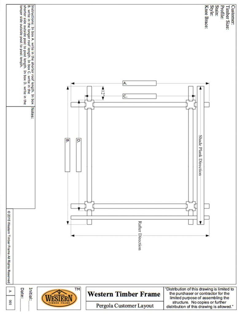 Pergola customer layout western timber frame for Parts of a pergola