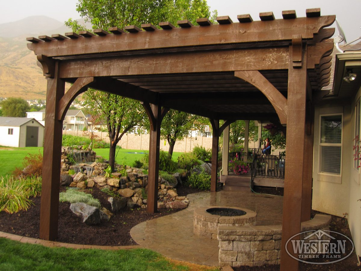 17 early american outdoor shade structures pergolas arbors gazebos pavilions western for Photos de pergolas