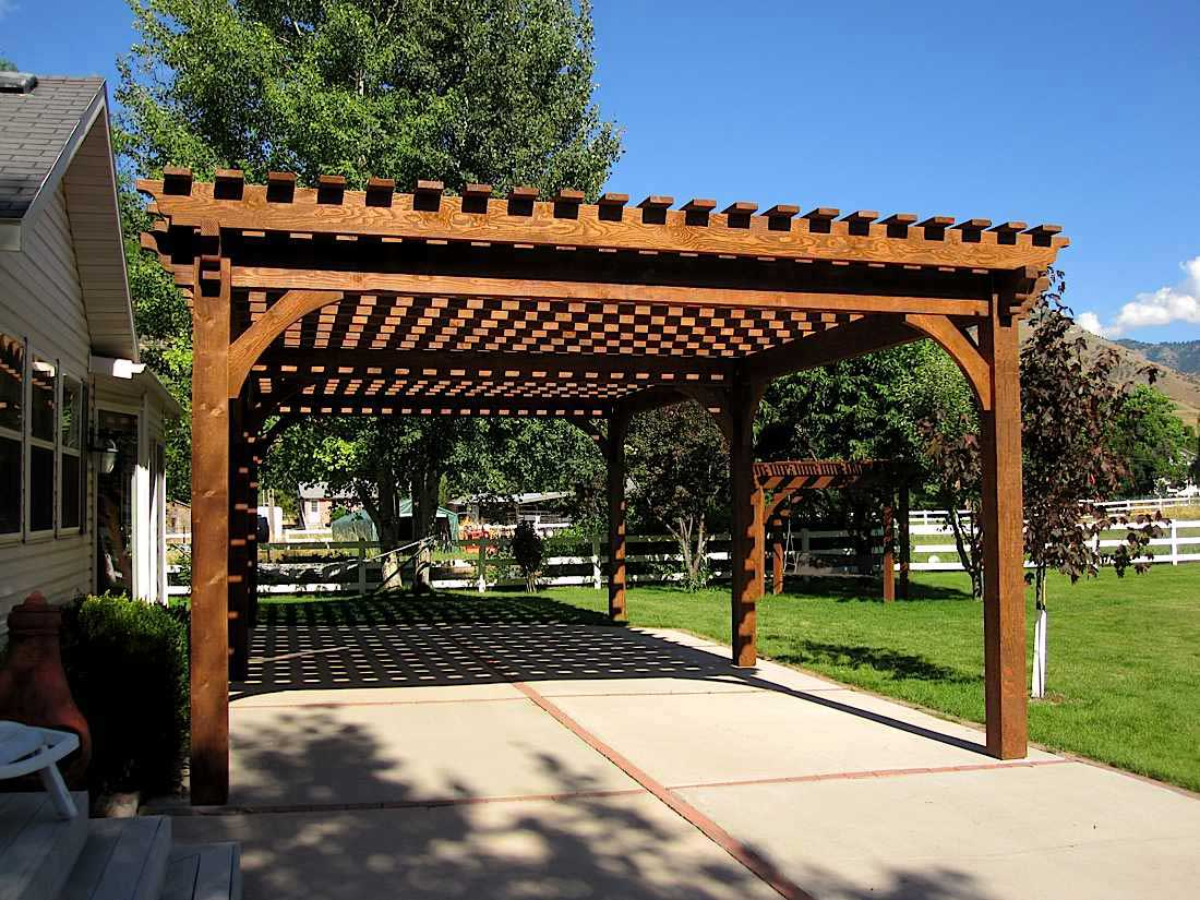 17 early american outdoor shade structures pergolas - Pergolas para jardin ...