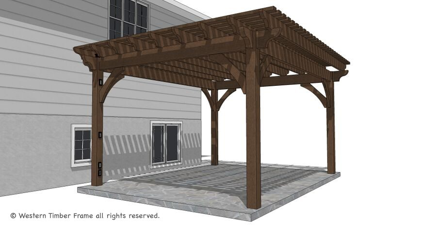 Diy Pergola Kits : Timber frame diy pergola kit replaces wood