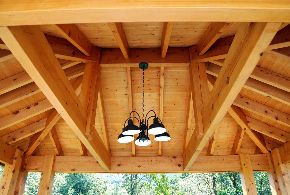 Plan for an easy 16 39 x 20 39 diy solid wood pergola or for Diy timber frame plans