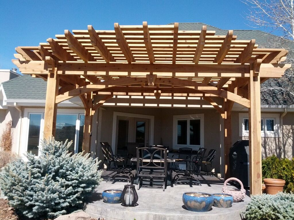 More Shade Plan Diy Solid Cedar Wood Cantilevered Pergola