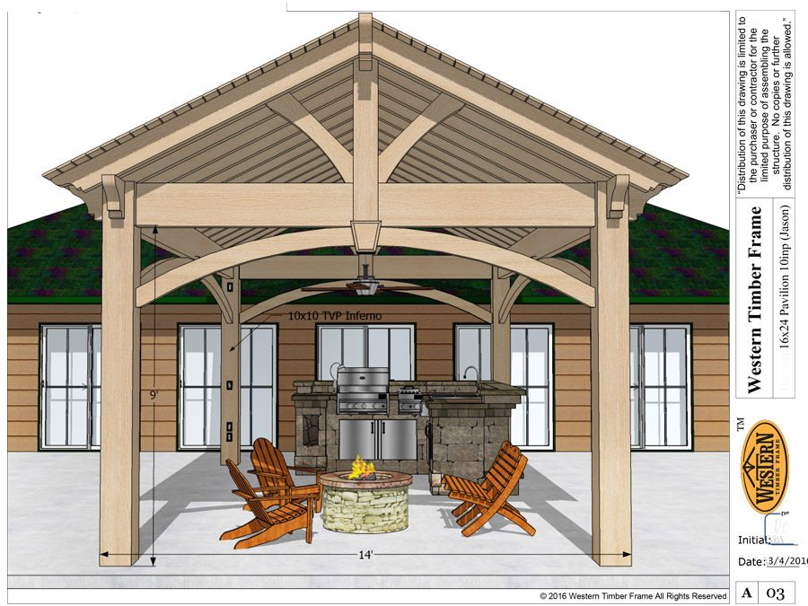 DIY pavilion plan schematic.