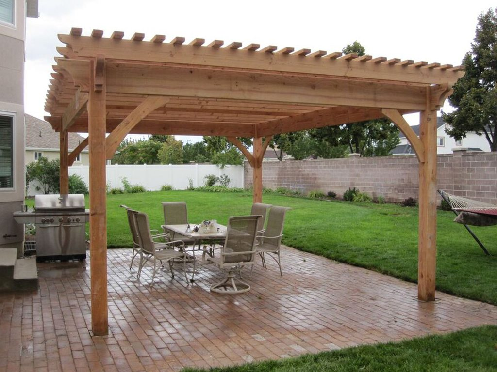 plan for an easy 16 39 x 20 39 diy solid wood pergola or pavilion western timber frame. Black Bedroom Furniture Sets. Home Design Ideas