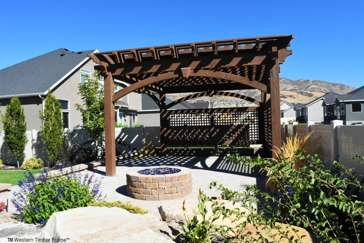 Pergola Backyard America :  in our outdoor solid wood timber frame outdoor shade structures