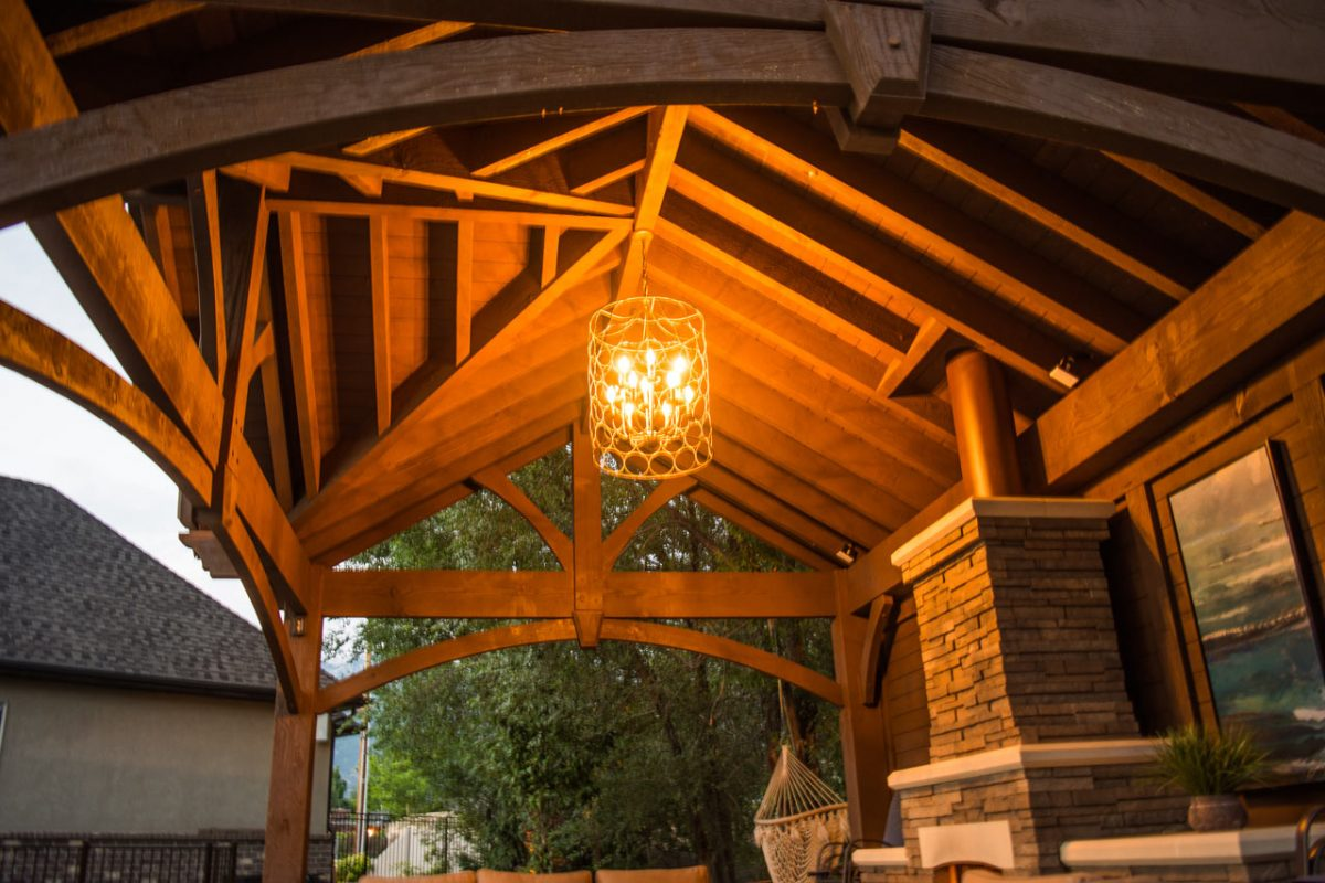 3rd Gable Pavilion W Privacy Wall Amp Fireplace Western