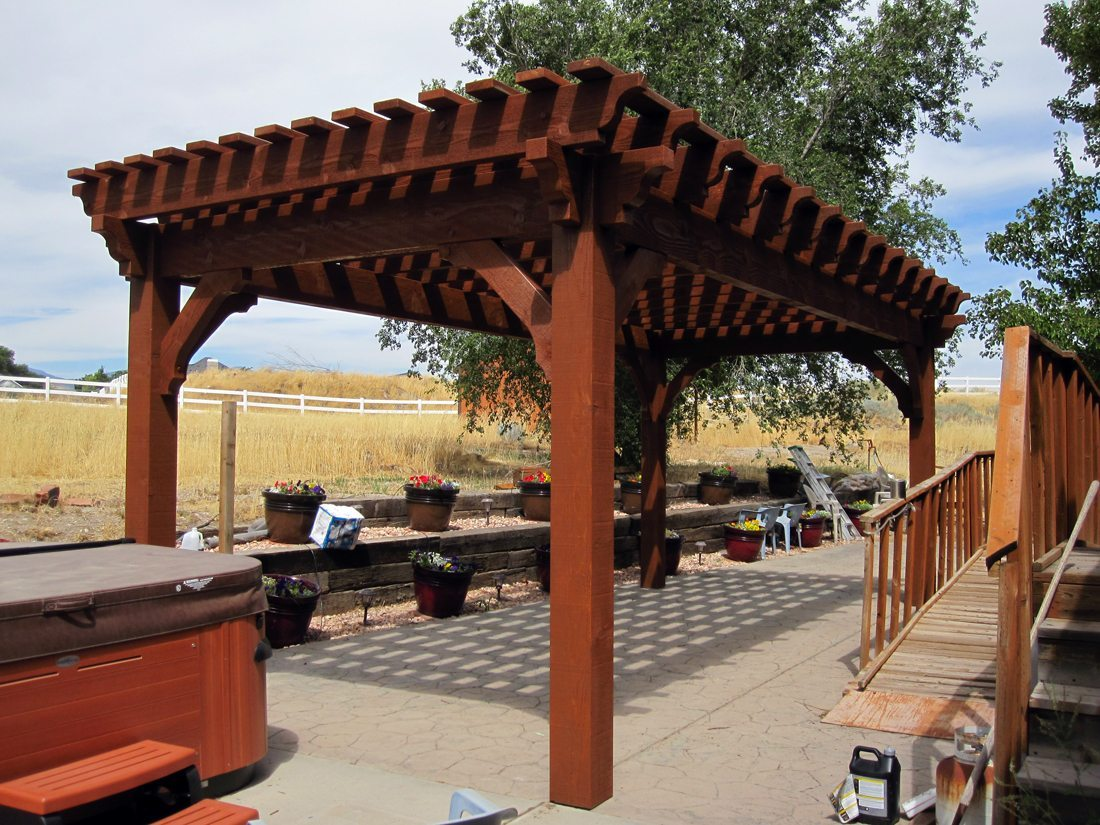 bacon pergola western timber frame