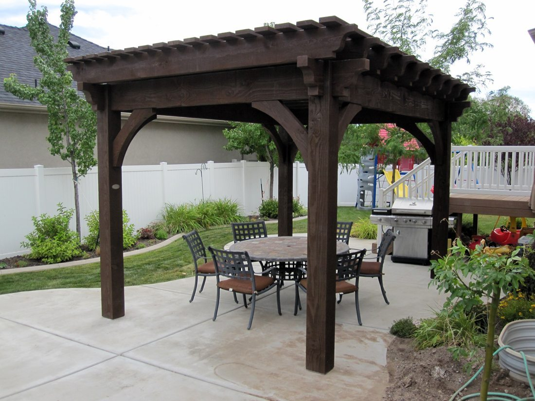 Backyard Pergola Kits :  ! ? Backyard Escape with DIY Timber Frame Pergola or Pavilion Kit