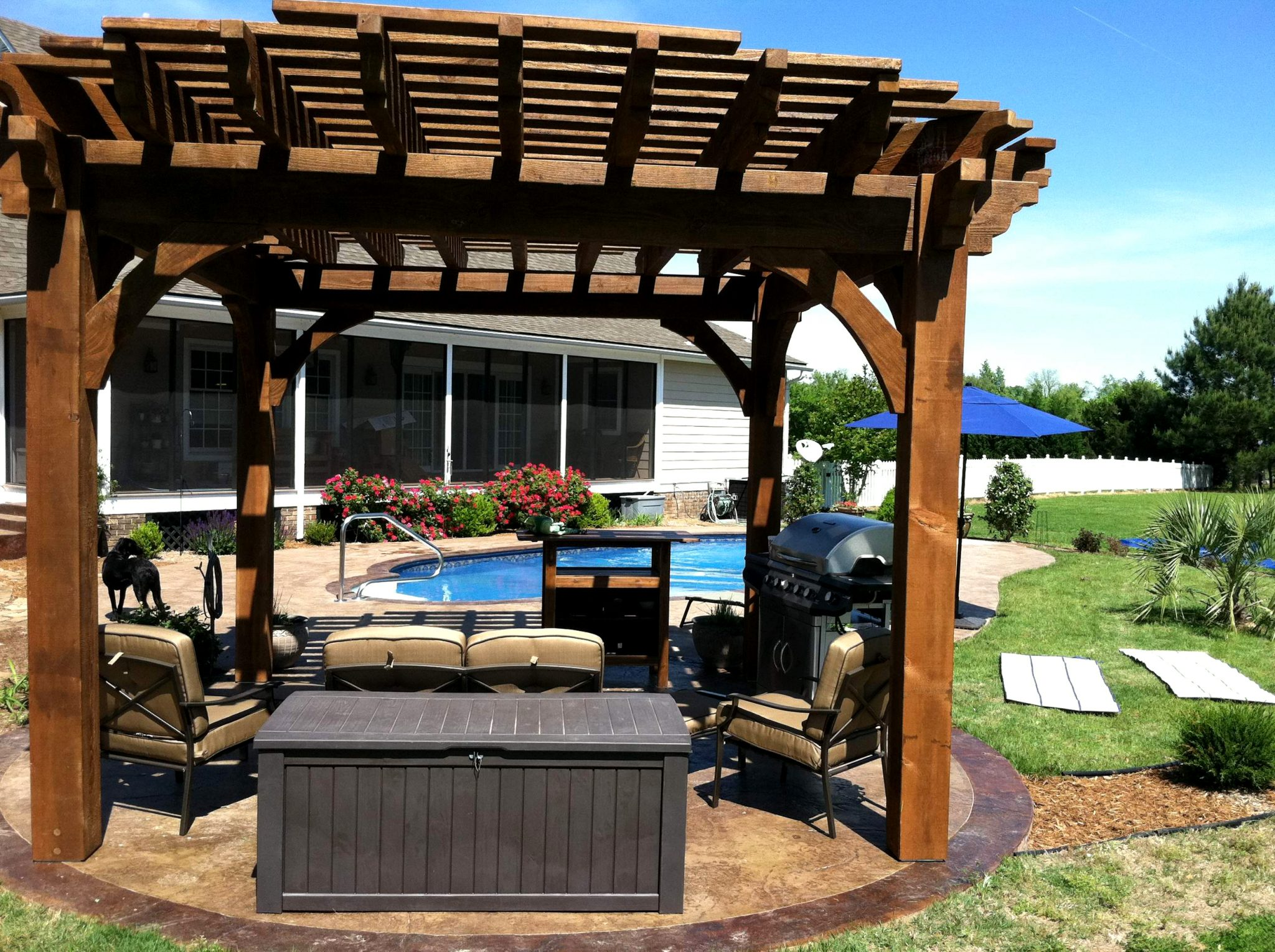 Round Ruby Pergola Post Western Timber Frame