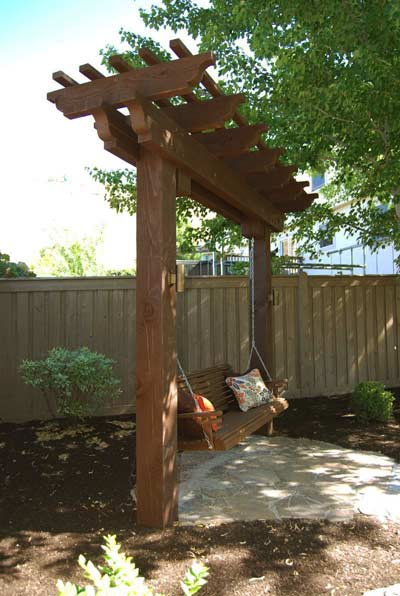 trellis bench swing