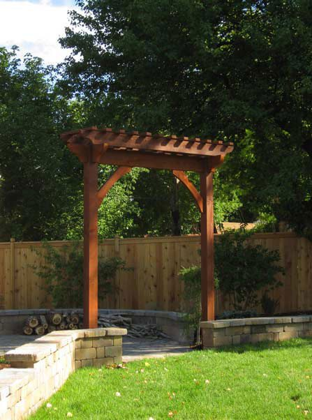 Arbors and trellises timber kits western timber frame for Timber garden arch designs
