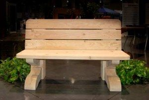 natural bench timber frame