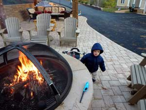 outdoor fire pit baby