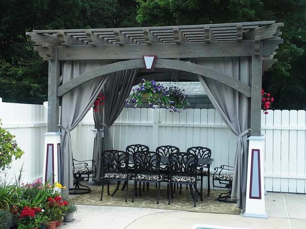 Custom Pergola with Curtains