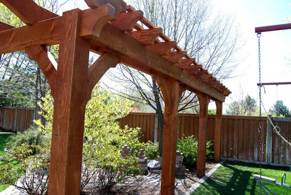 solid wood trellis