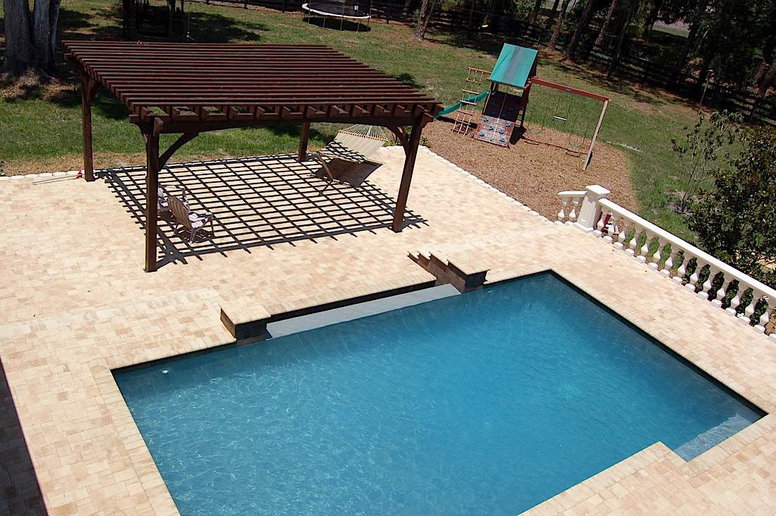 swimming pool pergola shade