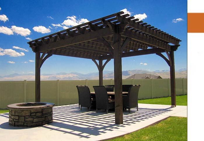 dovetail timber frame pergola kit fire pit
