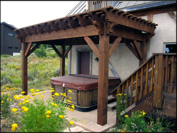 Timber Frame Pergola Cover Maintain Amp Enjoy Spa Hot Tub