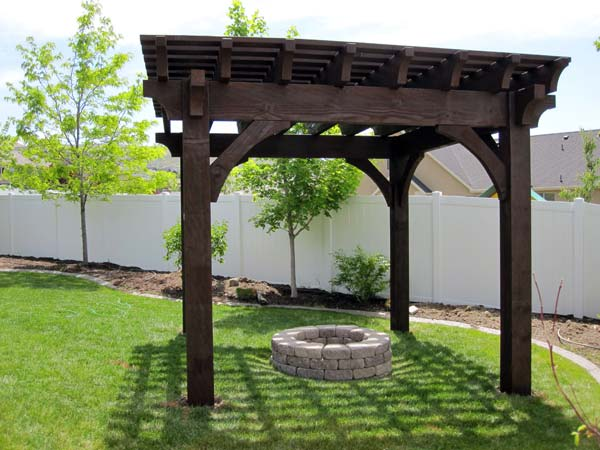Install A Diy Timber Frame Pergola Over A Fireplace Or Fire Pit Western Timber Frame