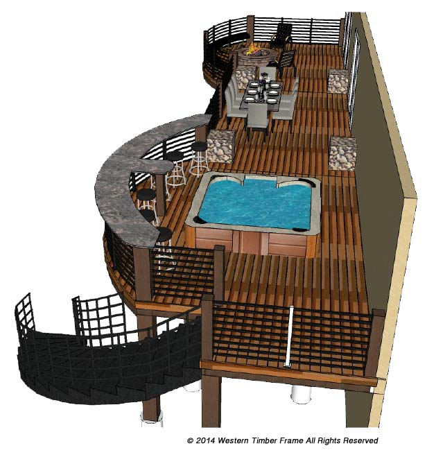 deck hot tub bar