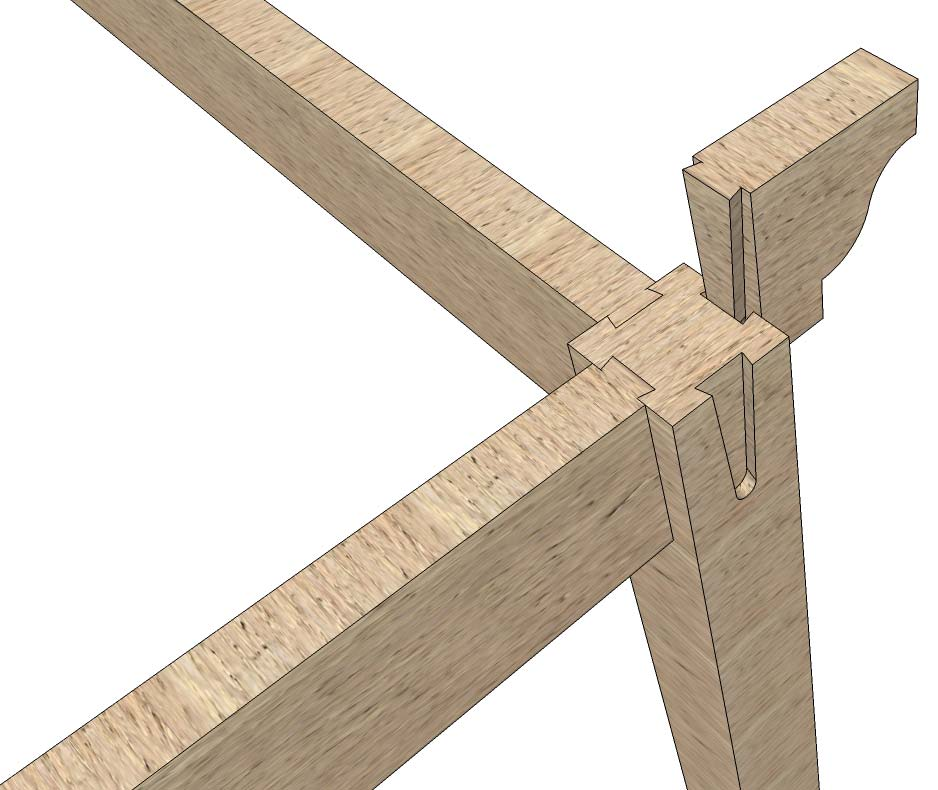 Easy pre cut drop in rafter beams for timber frame arbor for Maine post and beam kits