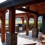 dovetail timber frame pergola