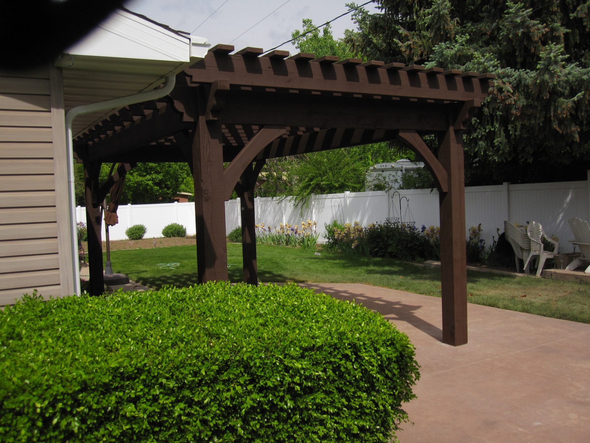 Diy Pergola Kits : Oversized diy timber frame pergola kit backyard