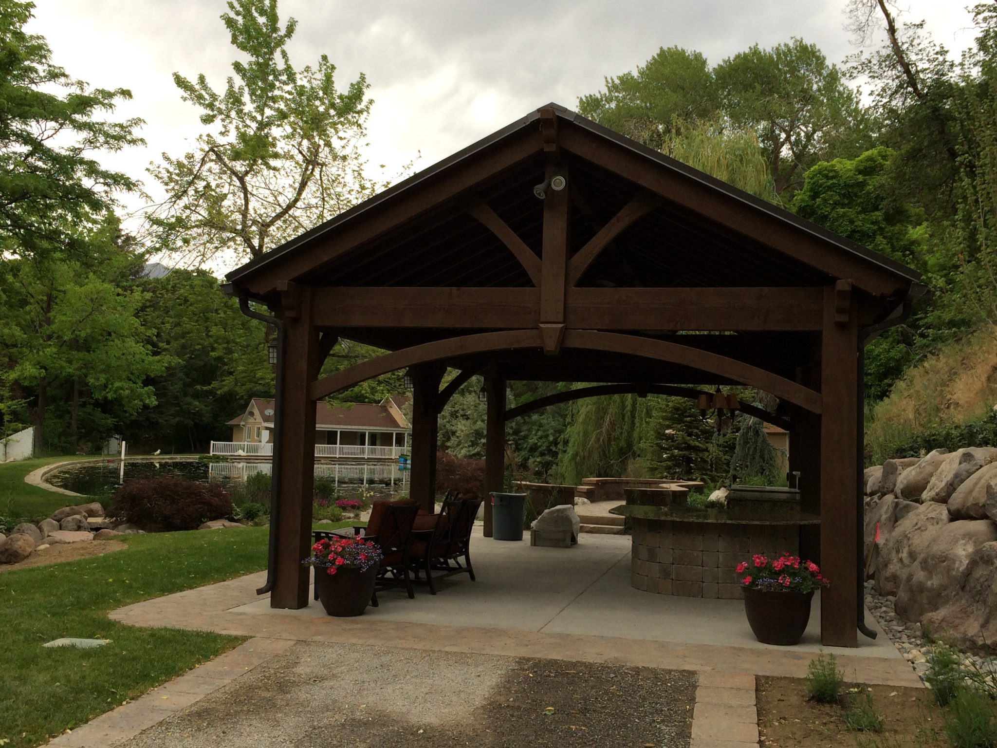 Backyard Escape with DIY Timber Frame Pergola or Pavilion Kit