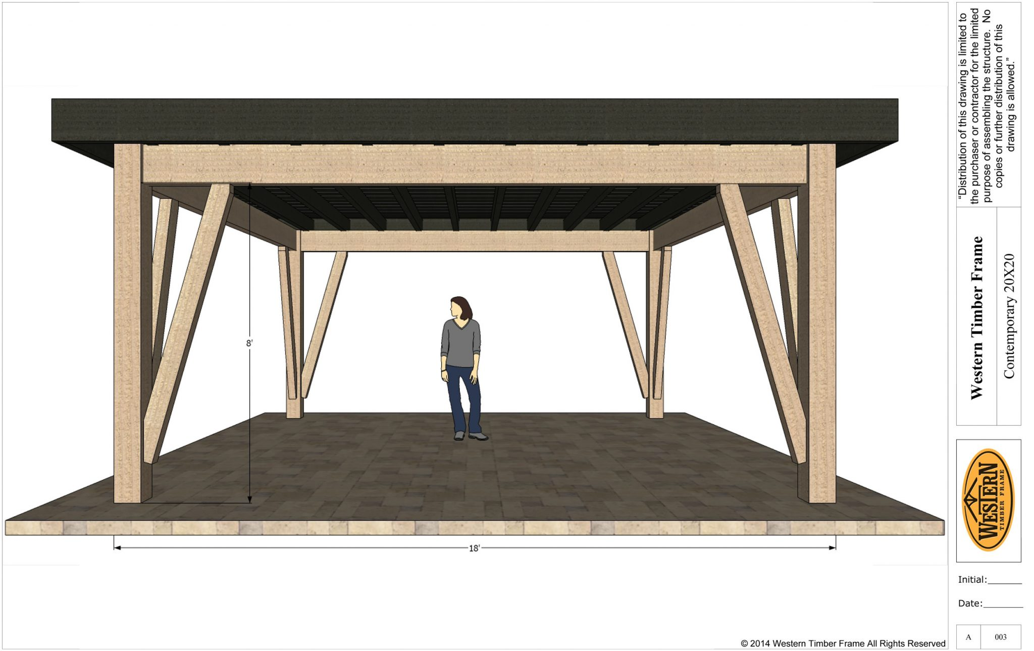 New Contemporary 20x20 DIY Timber Frame Pavilion Plan | Western ...