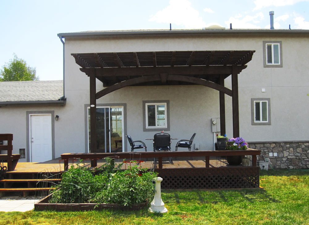 An timber frame attached pergola or awning is a perfect way to transition  to the outdoors and give a more aesthetically pleasing finish. - DIY Timber Frame Attached Pergola Kits & Timber Frame Awnings
