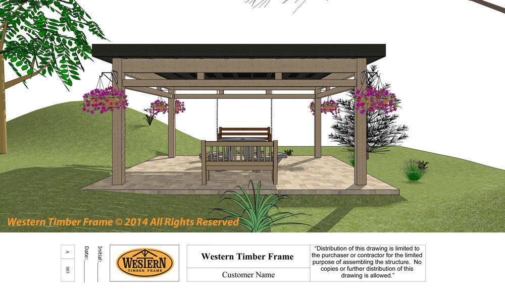 Our project managers can help you design your timber frame pergola kit.  Click HERE or Call Today! 877-870-8755 - How To Install A DIY Timber Frame Pergola Kit; Knife Plate Layout 4