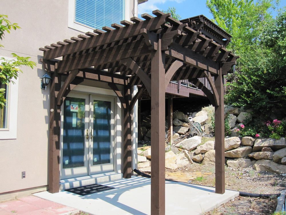 Diy Pergola Kits : Before after diy timber frame pergola kit over deck