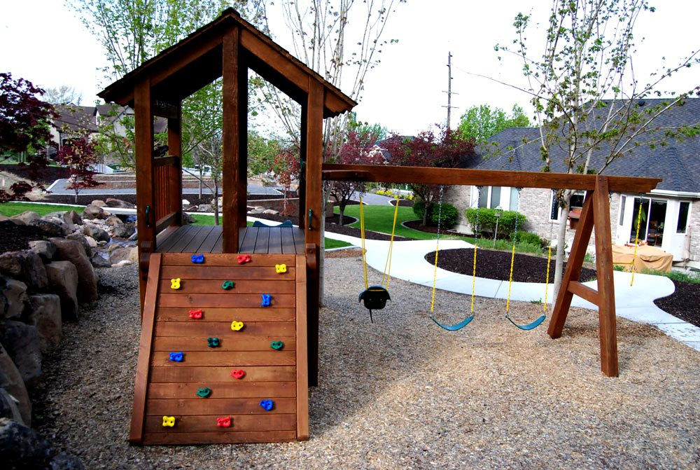 timber frame playground set