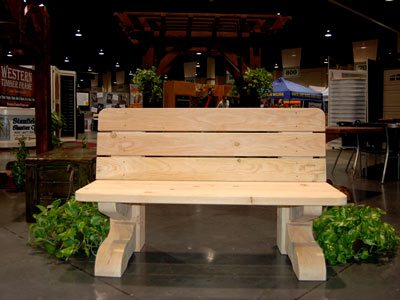 timber frame bench