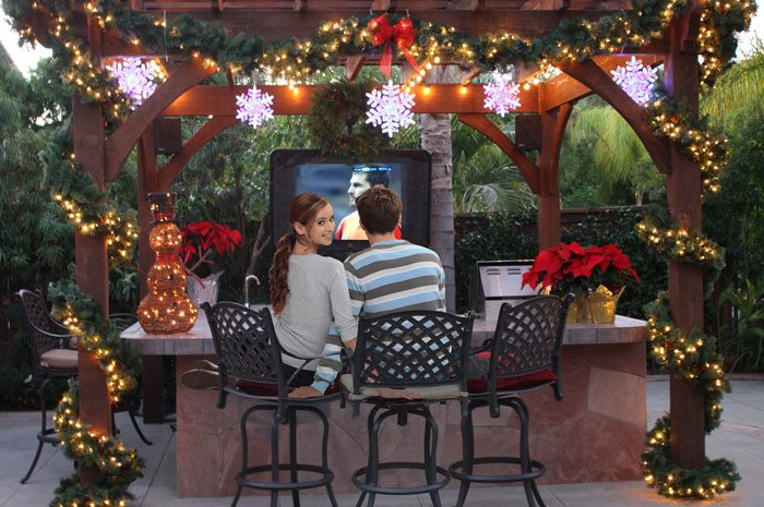tv bar christmas dovetail pergola kit