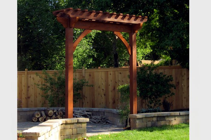 timber frame dovetail solid wood garden arbor