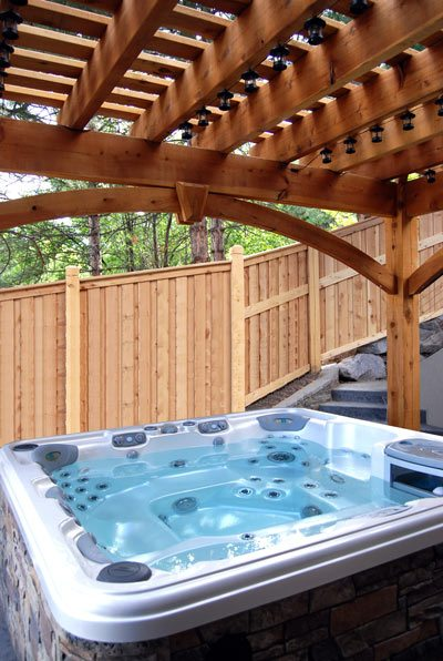 wrap around knee brace pergola kit hot tub